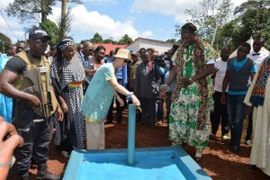 inauguration Project d'eau Bangoua 2015